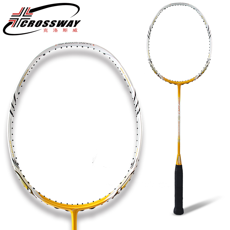 CROSSWAY Badminton Racket Genuine High Tension High Quality Carbon Fibre Badminton Racquets Single Pack For Adult Couples