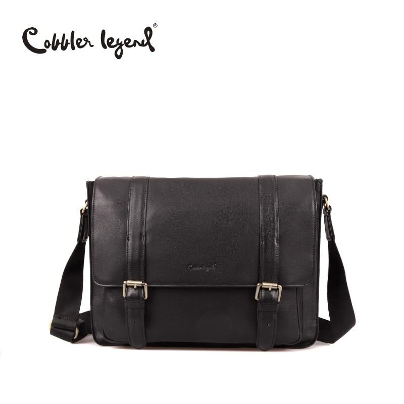 377a5399227 Watch Video to Shop 0900105-1. US  999.00. Cobbler Legend New Famous Brand  Men Bag Genuine Leather Man Messenger ...