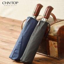 Новинка 2017 года стиль двойной слой большой почетный автоматический зонт мужчины Творческий твердой древесины ручка бизнес моды зонтик женщины