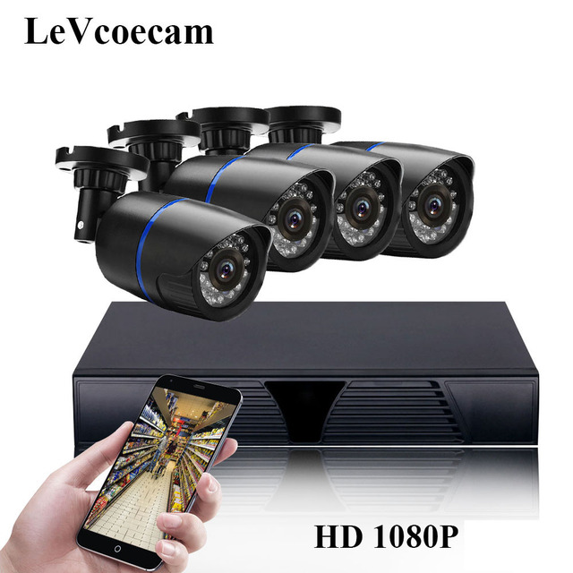 Full HD 1080P 8Channel CCTV System 2MP Metal Outdoor IP Camera 1080P H.265 NVR CCTV Kit HDMI P2P Email Alarm xmeye