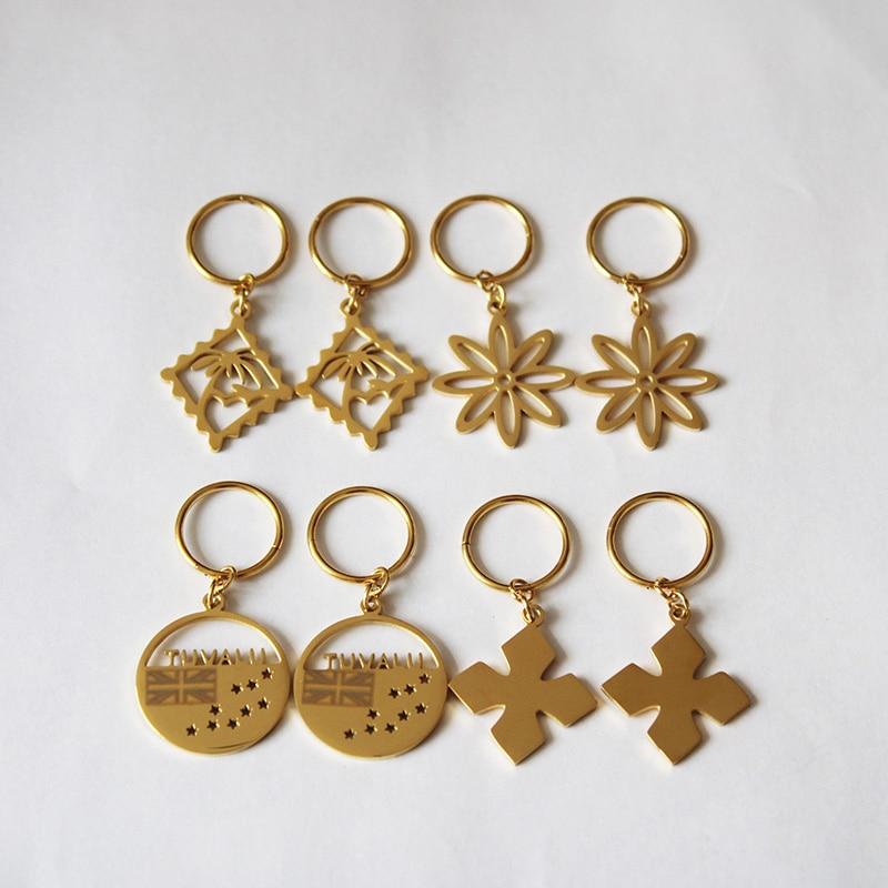 Kiribati Earrings For Women Girls Gold Color Stainless Steel Marshall Tuvalu Drop Earrings Jewelry