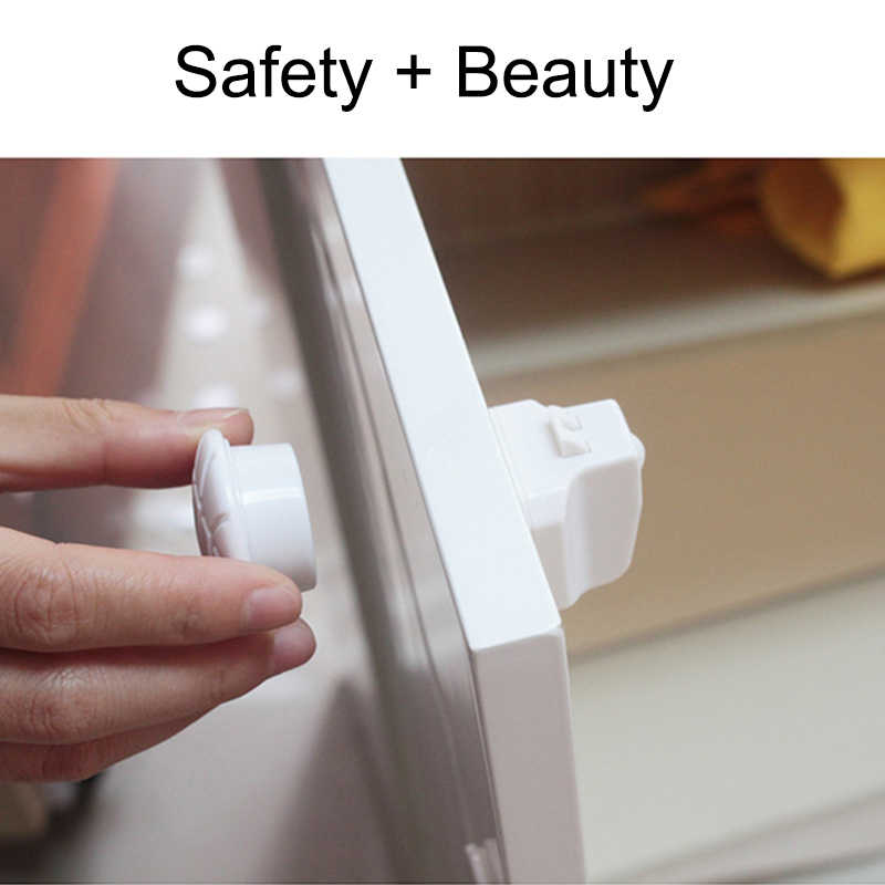 1018fe7247c Magnetic Child Lock Baby Safety Cabinet Lock Children Protection Kids Drawer  Locker Baby Security ...
