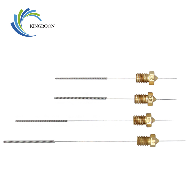 KINGROON Stainless Steel Cleaning Needle 0.15mm 0.2mm 0.25mm 0.3mm 0.35mm 0.4mm Part Drill For Nozzle 3D Printers Parts with BoxKINGROON Stainless Steel Cleaning Needle 0.15mm 0.2mm 0.25mm 0.3mm 0.35mm 0.4mm Part Drill For Nozzle 3D Printers Parts with Box
