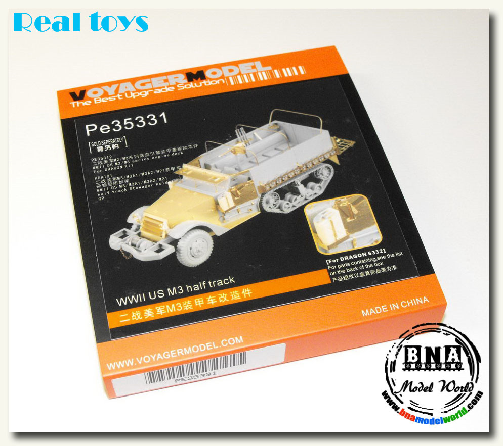 Voyager model PE35331 1/35 WWII US M3 Half Track (For DRAGON 6332)Voyager model PE35331 1/35 WWII US M3 Half Track (For DRAGON 6332)