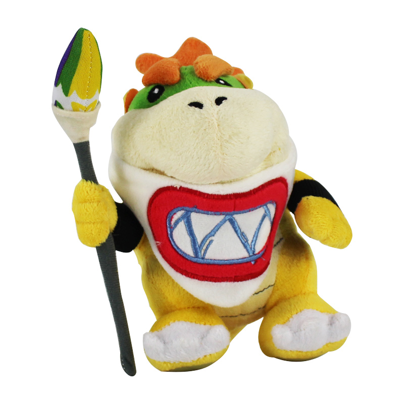 New Super Mario Bowser Koopa JR Stuffed Plush Doll Soft Baby Toy 17cm Christmas Gift For Children Free Shipping(China)