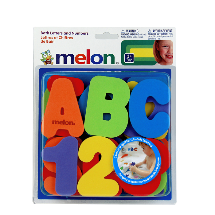 3 New Baby Bath Toy 36pcs Soft Foam Letters Numbers Bath