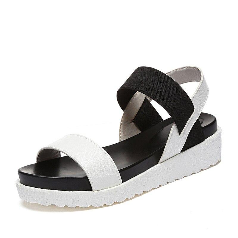 ZHENZHOU Leopard sandals summer Leopard grain sandals women Sandals shoes woman peep-toe flat Shoes Roman sandals Women sandals