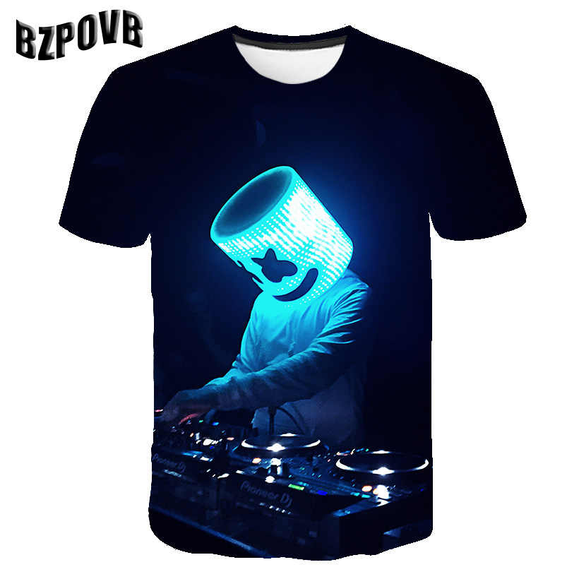2019 New arrival marshmallow 3D T Shirt do Menino/Menina T-shirt 3D Imprimir Casual Verão Moda Popular top Legal