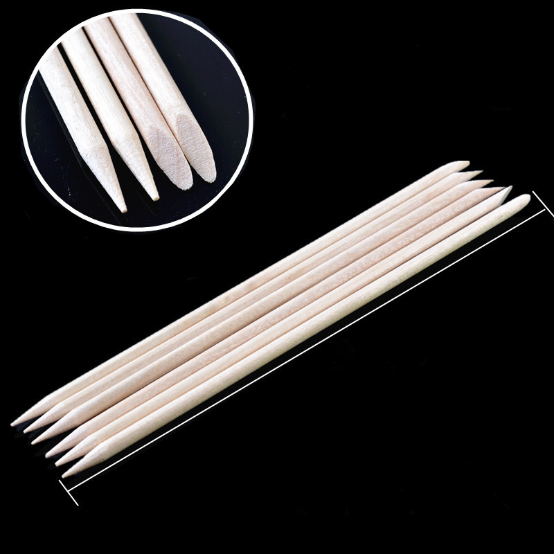 10pc 8CM Orange Wood Stir Stick  Made Wood Disposable UV Resin Wooden Stick Silicone UV Resin Mold Epoxy Making Nail Art