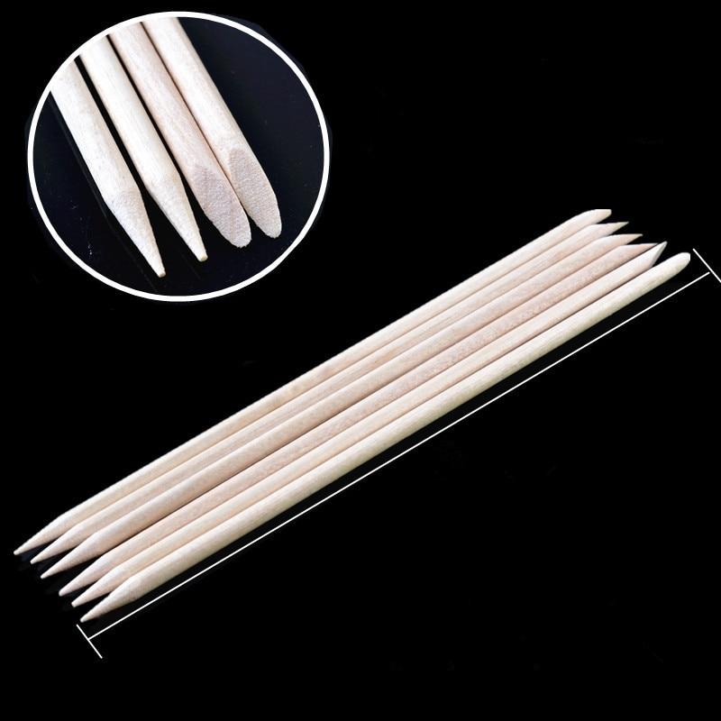 10pc 8CM Orange Wood Stir Stick  Made Wood Disposable UV Resin Wooden Stick Silicone UV Resin Mold Epoxy Making Nail Art