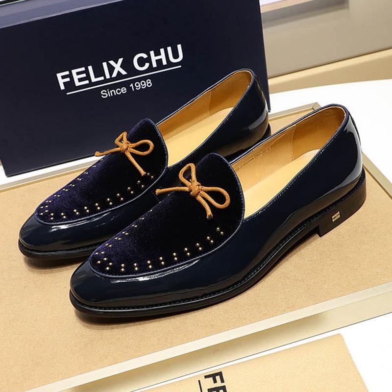 red Black Respirável Mocassins Patente Sapatos Couro 46 Cores Nubuck Com Tamanho 3 Qualidade Homens De Alta blue Masculinos Sobre Casuais Deslizar 39 fHzx7q1