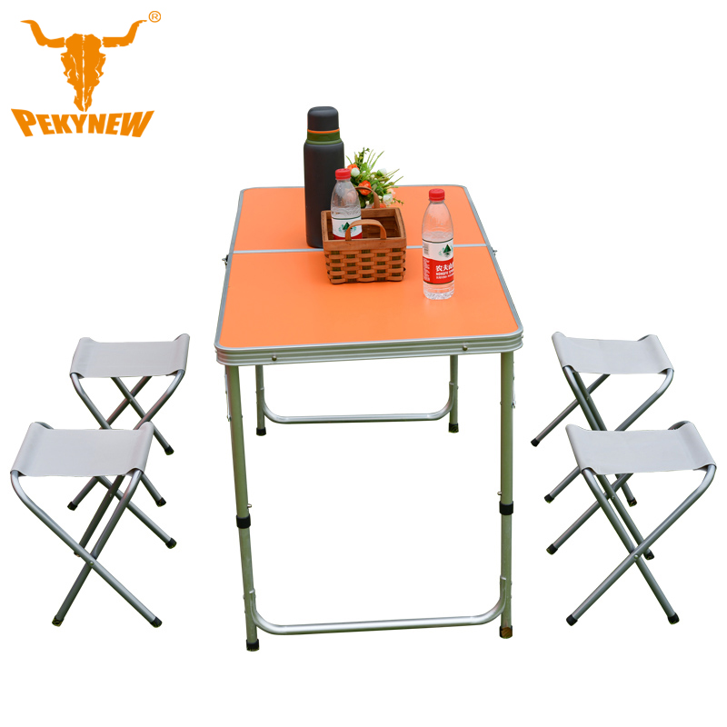 PKN-G1001 Outdoor folding Oxford Fabric Portable Foldable Folding Table Desk Furniture Outdoor Picnic Aluminium Alloy 5 sets теплица g 1001 c greenstorage
