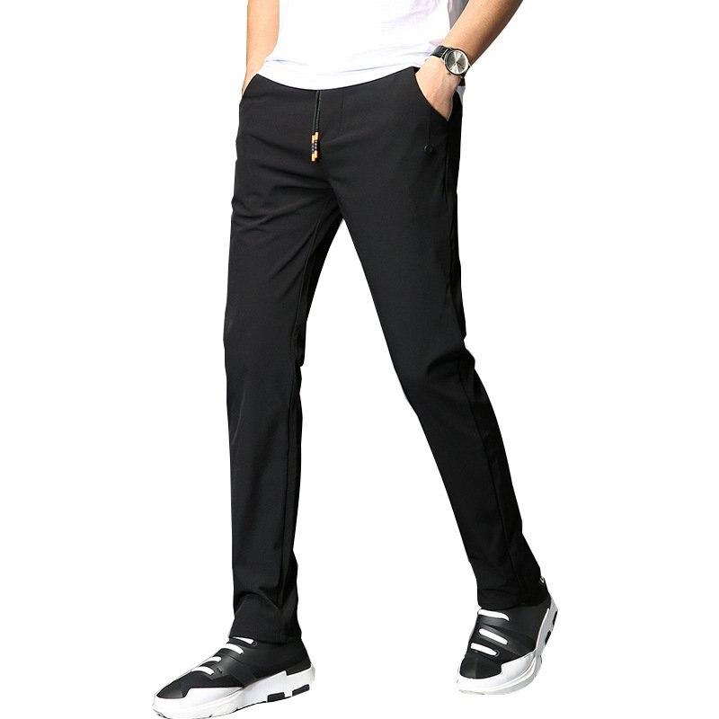 #1906 Mens casual basic pants Summer Lightweight 2018 Slim Pantalon hombre Quick-dry trousers men Compression pants Size 28-36