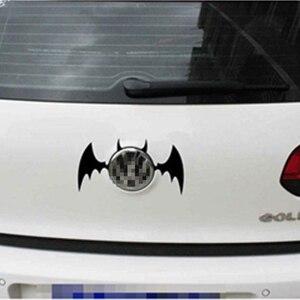 Image 3 - 11*6.7 CM Batman Yarasa Logo Yansıtıcı Araba Çıkartmaları Kişiselleştirilmiş Araba Çıkartmaları Kapak Çizikler Volkswagen Için Siyah Gümüş # b1327