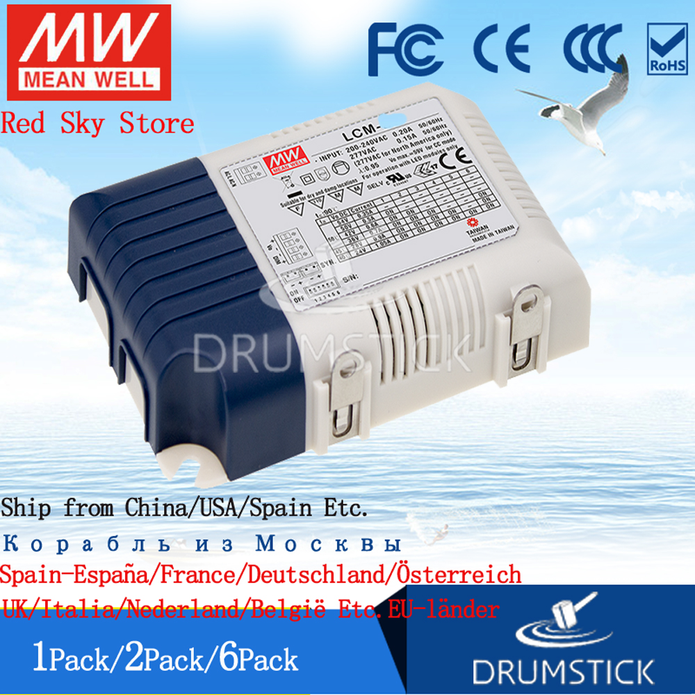LED Driver 39.9W 57V 700mA PLD-40-700B Meanwell AC-DC SMPS PLD-40 Series MEAN WELL C.C Power Supply