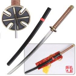 Free Shipping 41 Inch Cosplay Inuyasha Tessaiga Replica Sword Carbon Steel Katana Wooden Scabbard Decorative Sword Supply