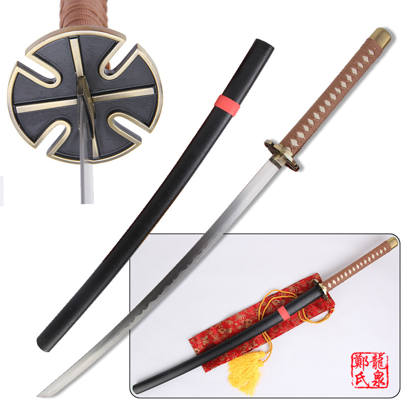 Us 68 14 5 Off Free Shipping 41 Inch Cosplay Inuyasha Tessaiga Replica Sword Carbon Steel Katana Wooden Scabbard Decorative Sword Supply In Swords