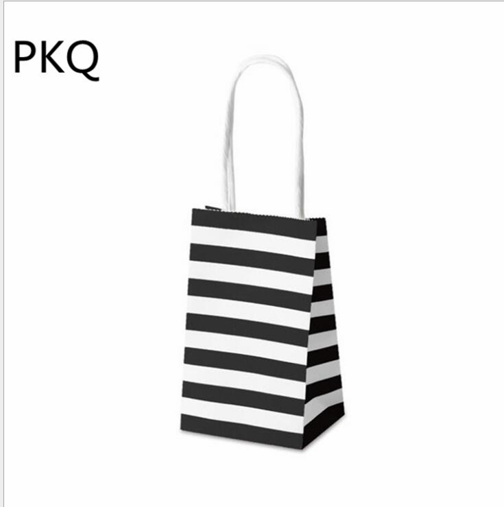 50pcs Wholesale Small Gift Bags For Jewelryperfumes Black White