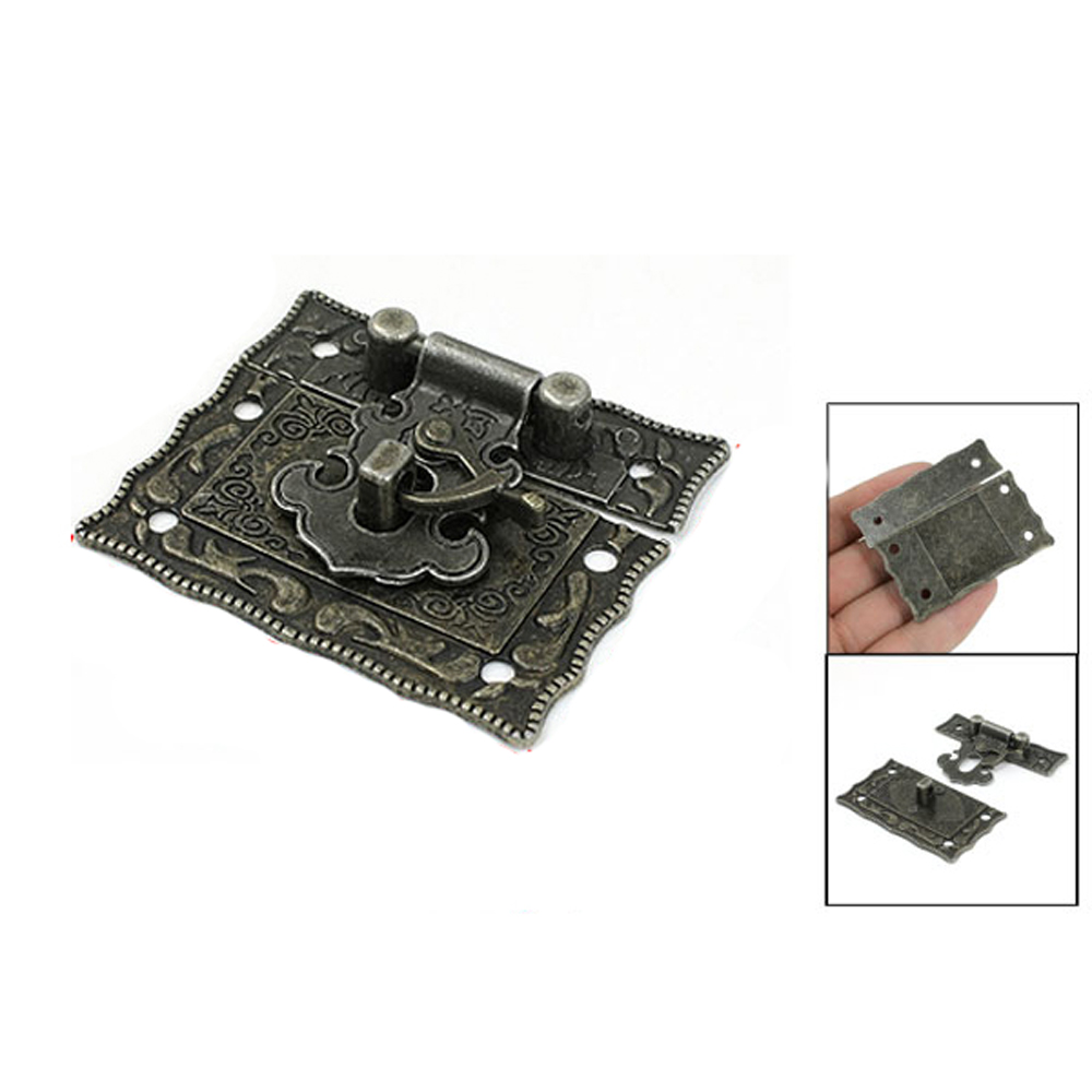 GSFY! 2 pcs Antique Style Bronze Tone Metal Rectangle Latch 42 x 51mmGSFY! 2 pcs Antique Style Bronze Tone Metal Rectangle Latch 42 x 51mm