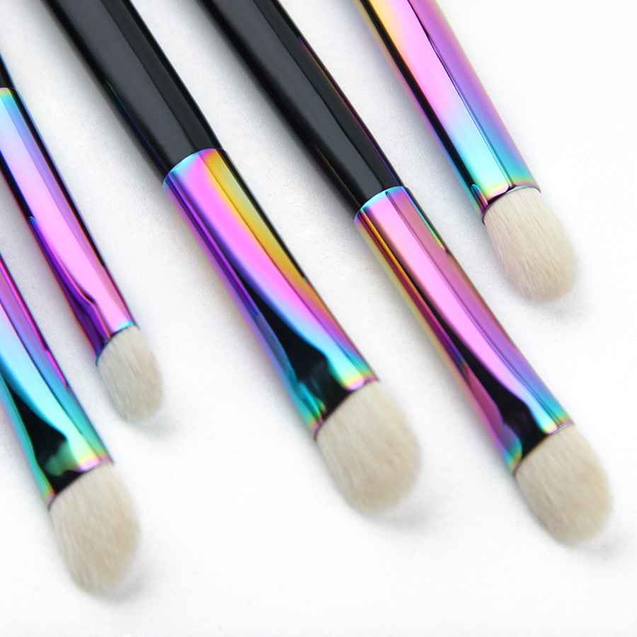 Anmor New Essential Eye Shadow Brush Set Rainbow Högkvalitativa - Smink - Foto 6