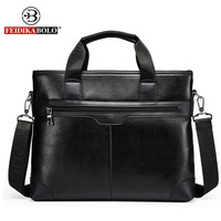 Wholesale 2015 New Men S Messenger Travel Bags Business Men PU Leather Laptop Tote Bags Man