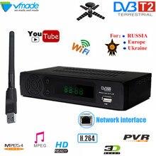 HD DVB صندوق التلفزيون dvb t2 كامل hd التلفزيون الأرضي الرقمي تلقي DVB T2 8939 مع USB واي فاي موالف التلفزيون H.264 دعم يوتيوب مجموعة صندوق