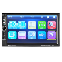 7021B 2 Din 12V Car multi function radio, touch screen, Bluetooth MP3 player MP5 player Vehicle mounted multifunctional player