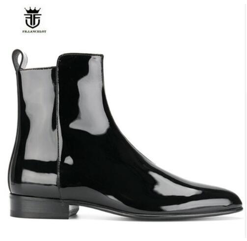 Formadores Sapatos Fr Zíper Marca Salto Homens As Pic De as Baixo Lancelot Couro Chelsea Botas 2019 Top Lateral High Pic Moda 71Px4qPw