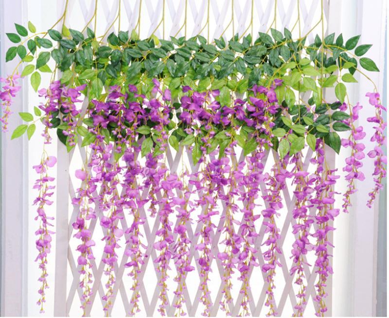Hääjuhlat suosivat keinokukat 1.1M silkkikukat tyylikäs Wisteria - Tavarat lomien ja puolueiden - Valokuva 4