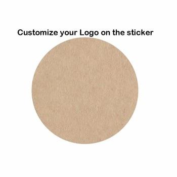 1000pcs custom stickers Wedding Paper Seals printed LOGO transparent clear Gift Tags Invitation Envelope Seals Kraft paper 1