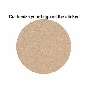 Image 2 - 1000 Uds. Pegatinas personalizadas, sellos de papel de boda, logotipo impreso, etiquetas de regalo transparentes, sobre de invitación, sellos de papel Kraft