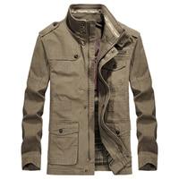Men Jacket Brand AFS JEEP Jacket Military Cotton Stand Collar Medium long Autumn Jacket For Male Plus Size 5XL 6XL 7XL 8XL