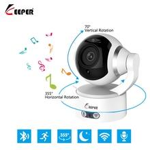KEEPER HD 2.0MP 1080P IP אלחוטי מצלמה וידאו מעקב אבטחת WiFi עם Bluetooth PTZ תנועה מעורר שני דרך דיבור IR 3