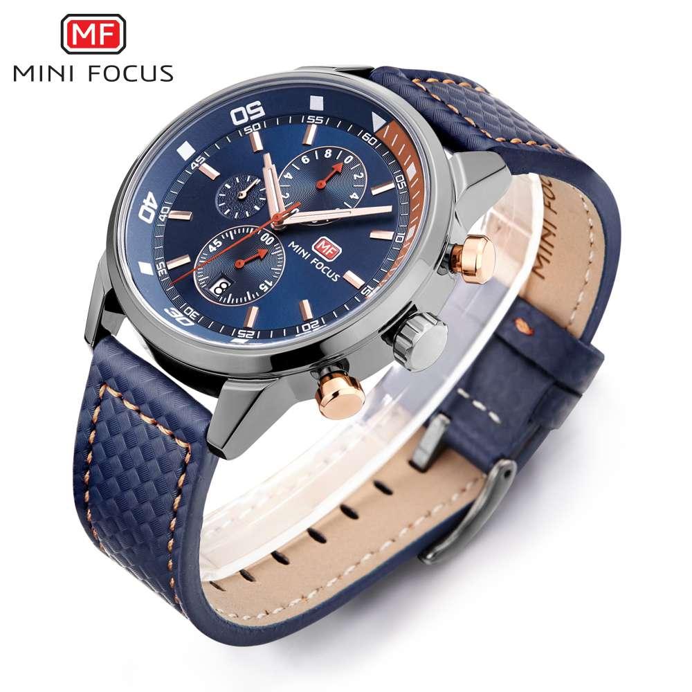 Watches Men 2019 Luxury Brand MINI FOCUS Quartz Fashion Leather Watch Man Chronograph Male Wristwatch Men relogio masculino 2018 (4)