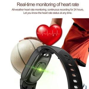 Image 2 - TLXSA умный Браслет фитнес трекер сердечного ритма мониторы водонепроницаемый смарт Браслет Шагомер Спорт для женщин мужчин Smartwatch