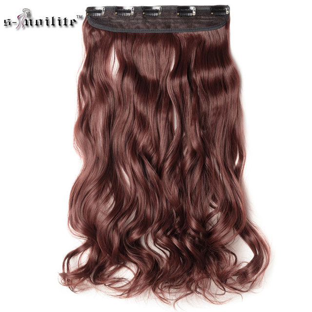 SNOILITE 27inch Cosplay Synthetic Clip in Hair Piece Long Curly Hair Extensions One Piece Half Head Natural Color For Human