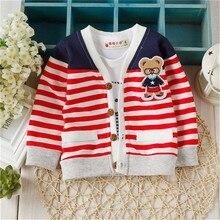 Тедди вязаные вязать медведь кардиган свитера свитер девочки мальчики рубашки ребенка