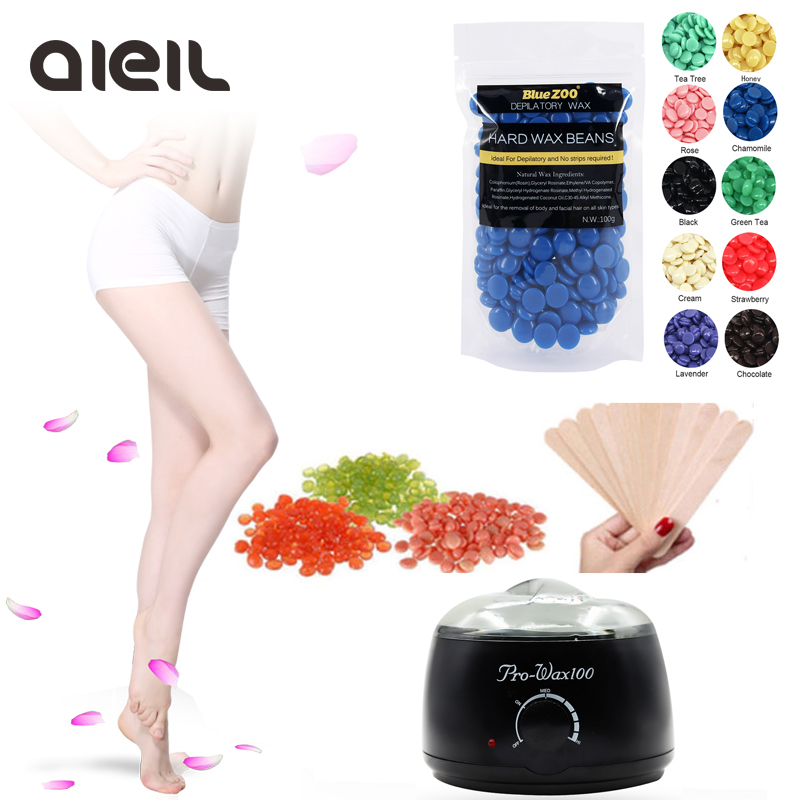100g Hard Wax Beans Wax Warmer Wax Heater Kit Paraffin Heater Waxing For No Strip Depilation Epilator Hair Removal Cream Machine free shipping by china post air mail 75w led plant grow light 3w high quality 3years warranty dropshipping
