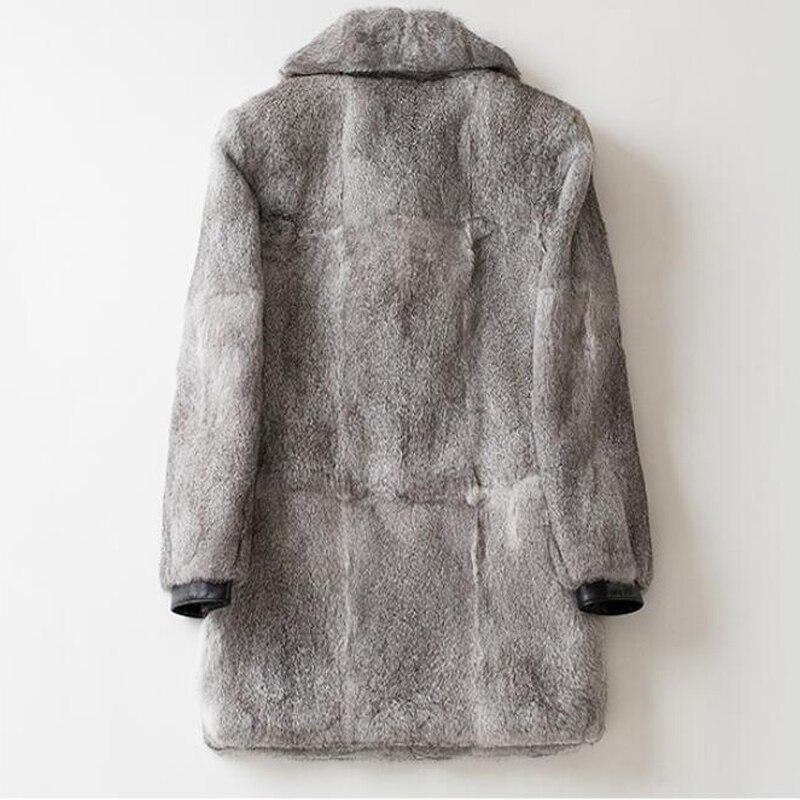 As Solide Vestes Peau Manteau Turn Collar down Lapin Cuir Hommes Pour Streetwear Fourrure Veste Réel D'hiver De Photo 1129 Véritable Ensemble En twwqfTR