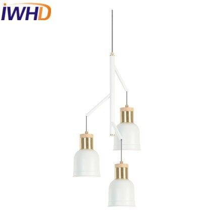 IWHD 3Heads Pendant Light Modern Iron Led Pendant Lamp Home Lighting Fixtures Bedroom Restaurant Kitchen Hanglamp Lampara