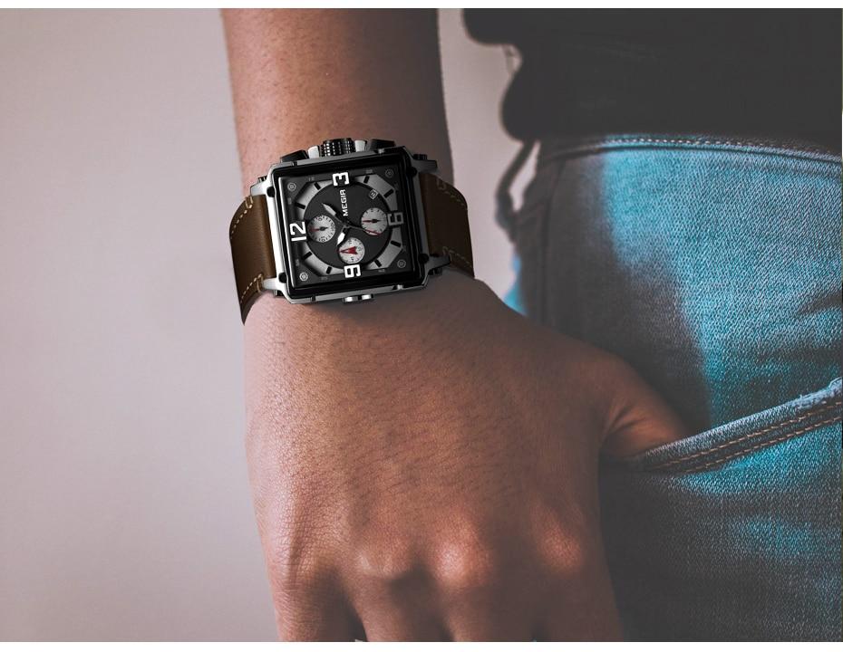 HTB1NNvRTpzqK1RjSZFvq6AB7VXaZ MEGIR Creative Men Watch Top Brand Luxury Chronograph Quartz Watches Clock Men Leather Sport Army Military Wrist Watches Saat