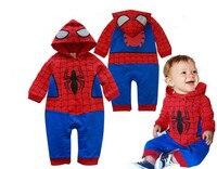 Новинка 2017 года младенческой Одежда для новорожденных малышей Человек-паук Средства ухода за кожей костюм комбинезон Средства ухода за кож...