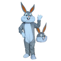Bugs bunny mascot costume sales customized mascot costume for Adult animal Grey Halloween party costumes