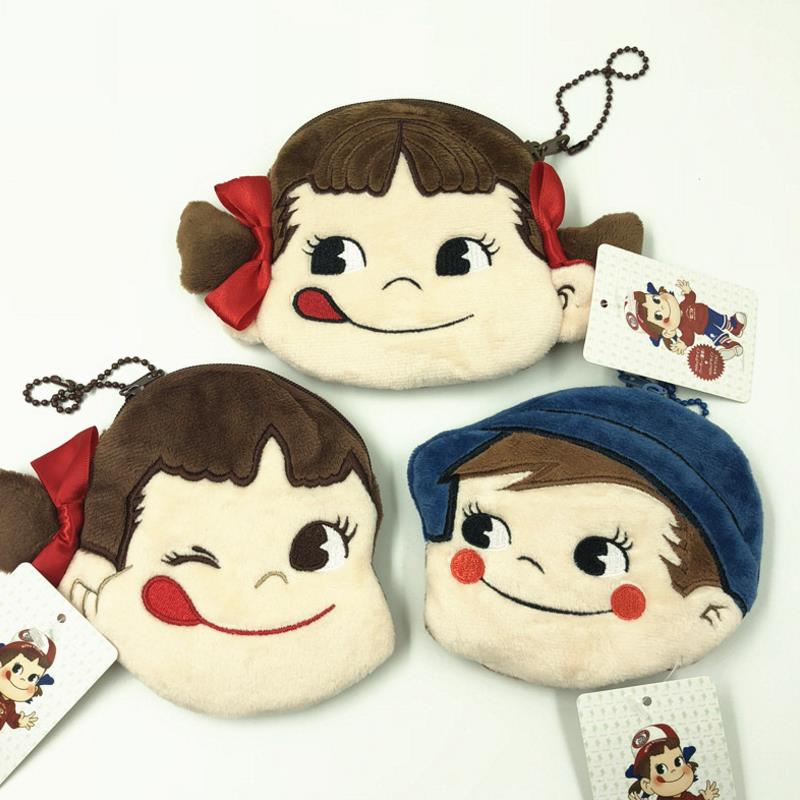 1pc Cute Coin Bag Kawaii Girl Poko Earphone Bag Pendants Lovely Zipper Card Holder Wallet Stuffed Fashion Plush Purse Toys