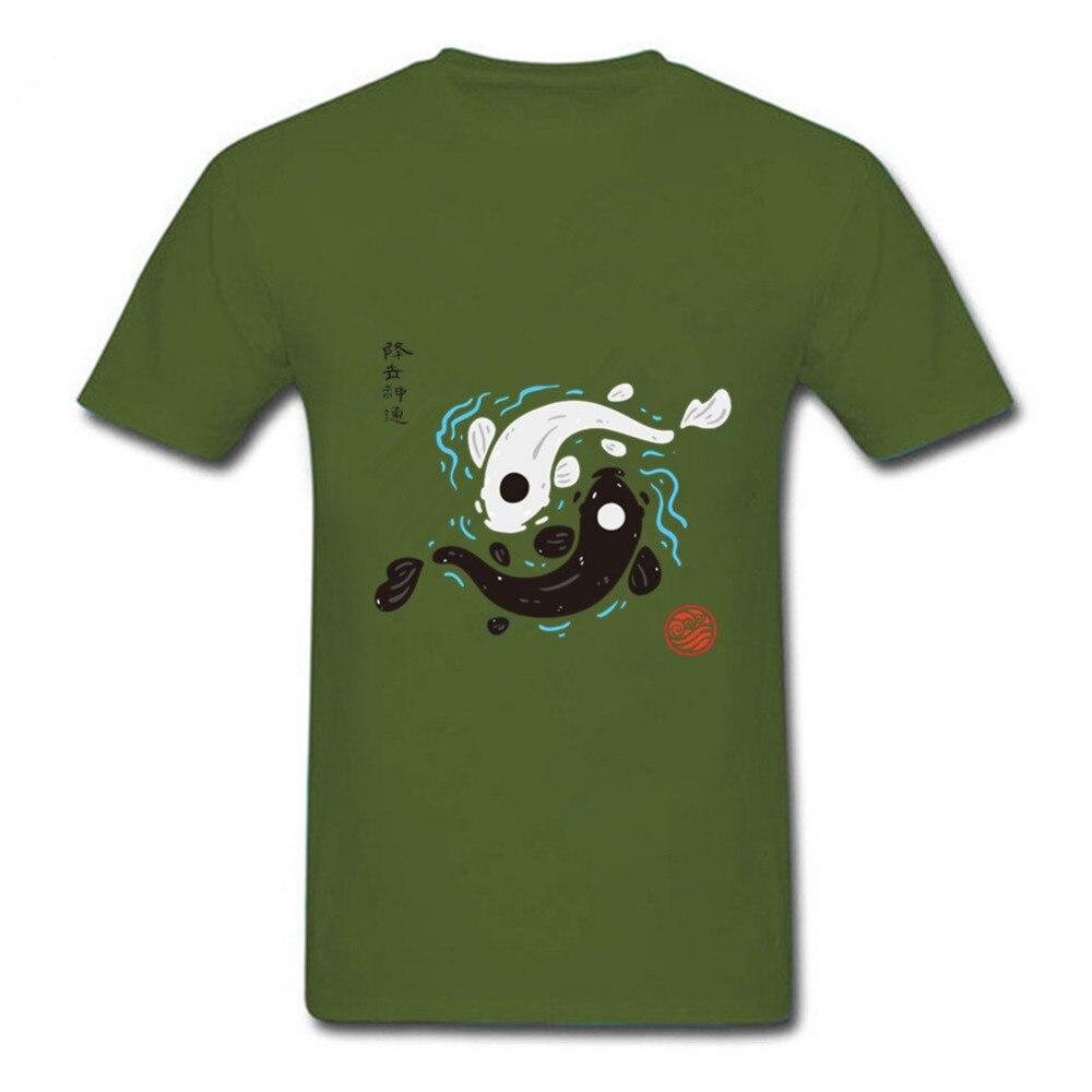 Japan style Yin-Yang Koi Fish T shirt men Avatar the Last Airbender white T-shirt 2019 New summer collection Tee hombre camiseta