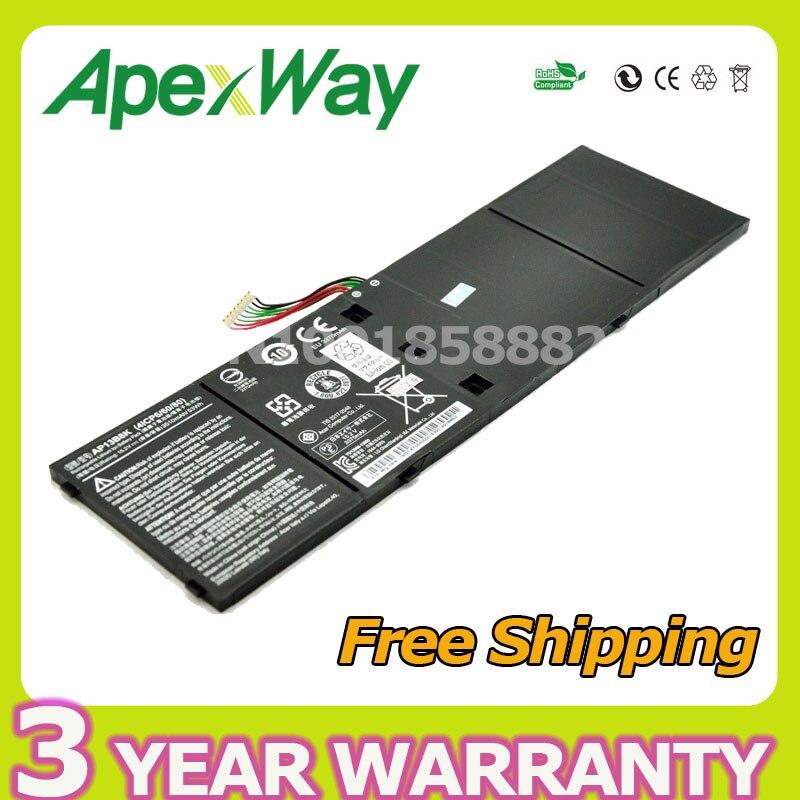 Apexway 14.8V 3400mAh Laptop Battery AP13B3K AP13B8K for Acer Aspire V5 R7 V5-572G V5-572P V7-58 R7-571 V7-481 V5-472 M5-583P
