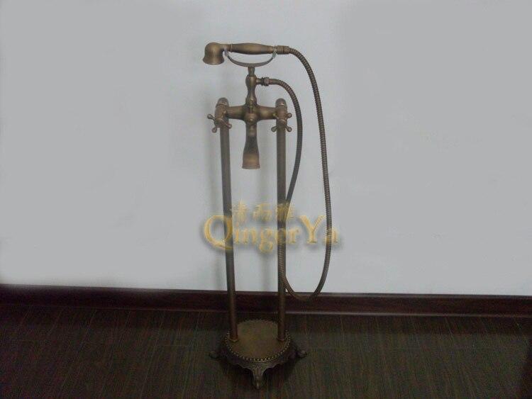 European antique copper shower the whole floor hot and cold shower bathtub faucet shower faucet simple paragraph 8830
