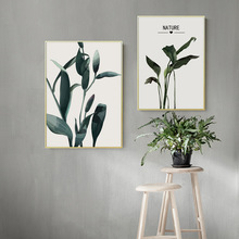 Plant Canvas Painting Green Poster Leaves Landscape Print Art Pop Pictures for Kitchen Prints Leaf Unframed