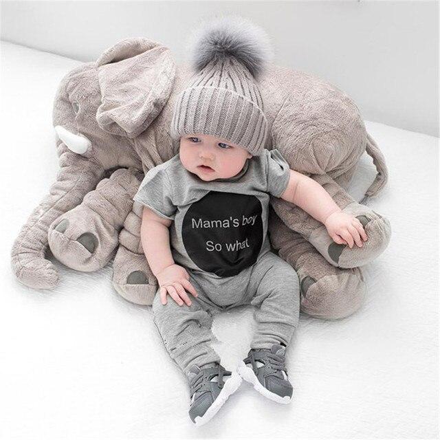 60 см Слон Подушки Мягкие Автомобильные Детские Сна Подушка Детская Кровать Складная Дети Кукла Подушки Сиденья Детские Игрушки
