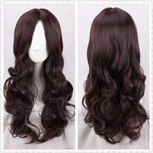 Tree&Sea Fate/Grand Order Leonardo da Vinci cosplay Women dark brown wavy long hair